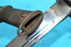Vintage Sword Japanese Samurai Katana Dagger Fighting With Sheath & Brass Handle