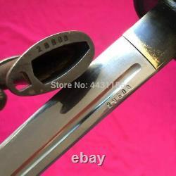 Vintage Sword Japanese Samurai Katana High Carbon Steel Brass Handle With Sheath