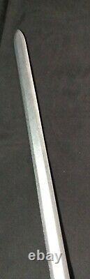 Vintage Sword With Brass Handle Fleur- de- lis Sheath 35 Long Figural Handle