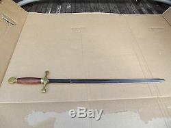 Vintage Wood & Brass Handle 31 1/2 Pakistan Viking Sword