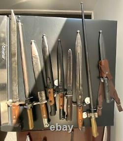 WW1 French Lebel Model Bayonet Cruciform Blade Brass Handle Nice Markings