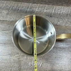 Williams Sonoma France Copper Stainless Steel 3.5 QT Sauce Pan Pot Brass Handle